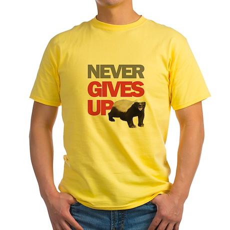 Honey Badger Don't Care Yellow T-Shirt