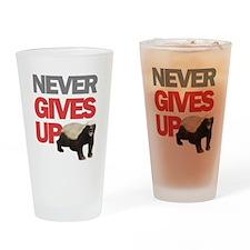 Honey Badger Don't Care Drinking Glass