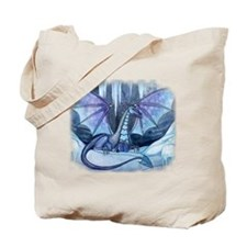 Ice Dragon Fantasy Art by Molly Harrison Tote Bag