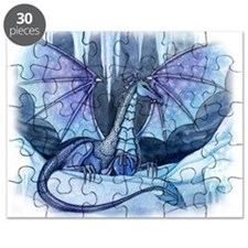 Ice Dragon Fantasy Art by Molly Harrison Puzzle