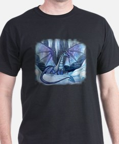Ice Dragon Fantasy Art by Molly Harrison T-Shirt
