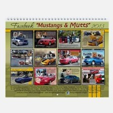 2013 Mustangs and Mutts Wall Calendar