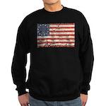 13 Colonies US Flag Distresse Sweatshirt (dark)