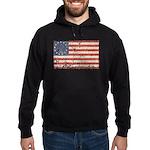 13 Colonies US Flag Distresse Hoodie (dark)