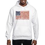 13 Colonies US Flag Distresse Hooded Sweatshirt