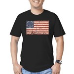 13 Colonies US Flag Distresse Men's Fitted T-Shirt