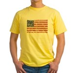 13 Colonies US Flag Distresse Yellow T-Shirt