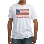 13 Colonies US Flag Distresse Fitted T-Shirt