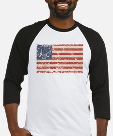 13 Colonies US Flag Distresse Baseball Jersey