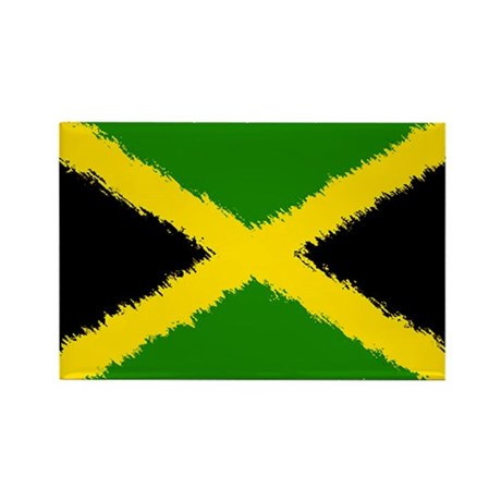 Flag of Jamaica Rectangle Magnet (10 pack)