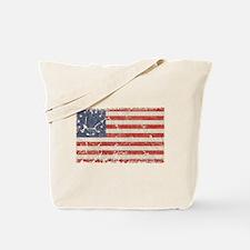 13 Colonies US Flag Distresse Tote Bag