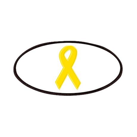Yellow Awareness Ribbon Patches