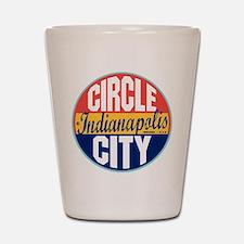 Indianapolis Vintage Label Shot Glass