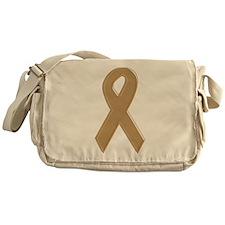 Gold Awareness Ribbon Messenger Bag