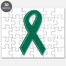 Green Awareness Ribbon Puzzle