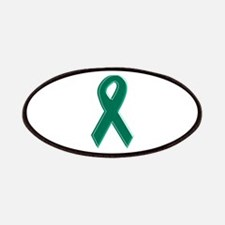 Green Awareness Ribbon Patches