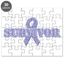 Lavender Ribbon Survivor Puzzle