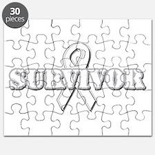 White Ribbon Survivor Puzzle