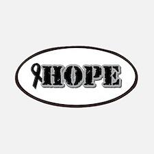Black Hope Ribbon Patches