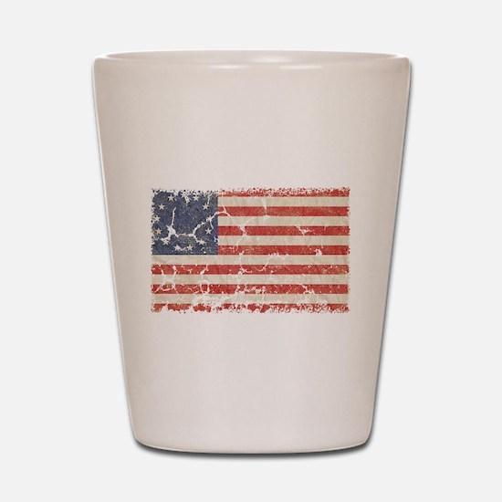 13 Colonies US Flag Distresse Shot Glass