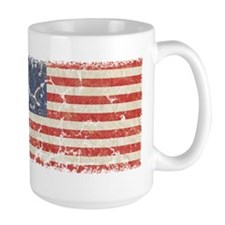 13 Colonies US Flag Distresse Mug