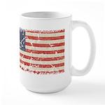 13 Colonies US Flag Distresse Large Mug