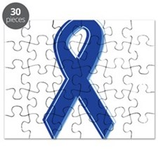 Blue Awareness Ribbon Puzzle