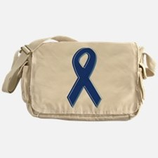 Blue Awareness Ribbon Messenger Bag