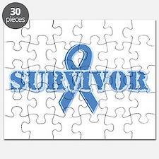 Light Blue Survivor Puzzle
