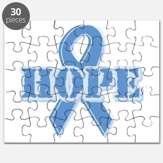 Lt Blue Hope Ribbon Puzzle