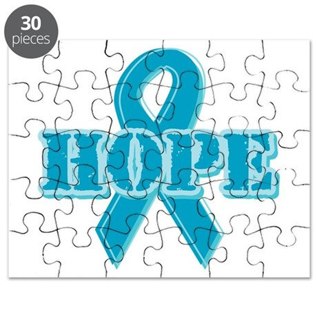 Teal Hope Ribbon Puzzle