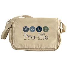 Vote pro-life Messenger Bag