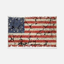 13 Colonies US Flag Distresse Rectangle Magnet