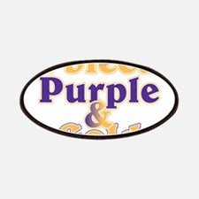 Bleed Purple and Gold Patches
