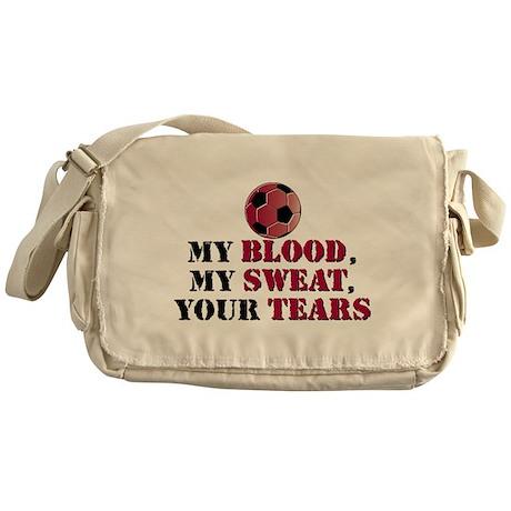 Blood Sweat Soccer Messenger Bag