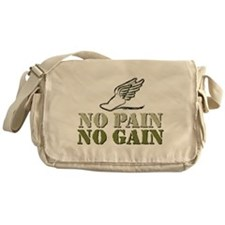 No Pain No Gain Track Messenger Bag