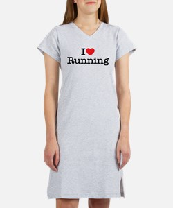 I Love Running Women's Nightshirt