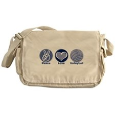 Peace Love Volleyball Messenger Bag