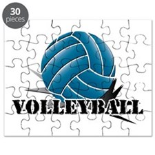 Volleyball starbust blue Puzzle