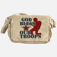God Bless Our Troops Messenger Bag