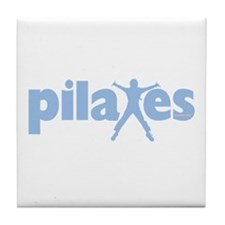 PIlates Baby Blue by Svelte.biz Tile Coaster