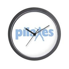 PIlates Baby Blue by Svelte.biz Wall Clock