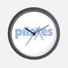 PIlates Baby Blue by Svelte.biz Wall Clock