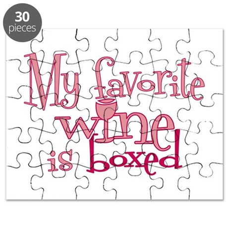 Favorite wine boxed Puzzle