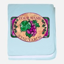 Your Vineyard baby blanket