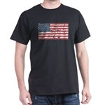 US Flag Distressed Dark T-Shirt