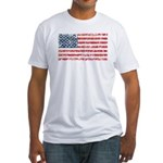 US Flag Distressed Fitted T-Shirt