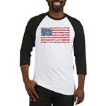 US Flag Distressed Baseball Jersey