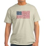 US Flag Distressed Light T-Shirt