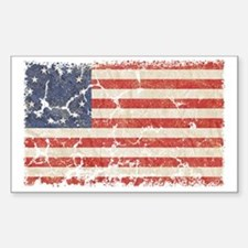 13 Colonies US Flag Distresse Sticker (Rectangle)